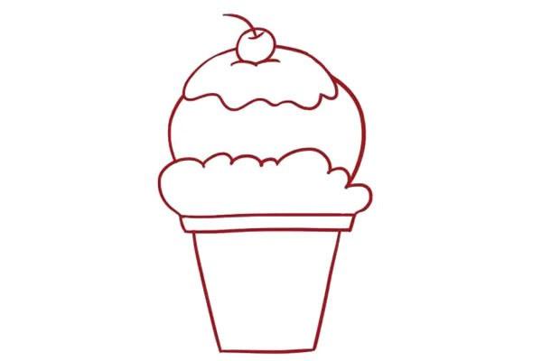 冰淇淋简笔画,哈根达斯简笔画 中级简笔画教程-第6张