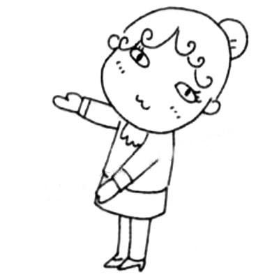 服务员儿童简笔画图片 中级简笔画教程-第5张