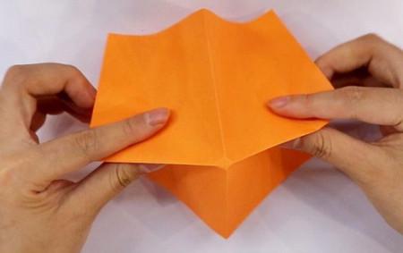 小鸟折纸步骤图解法 手工折纸-第2张