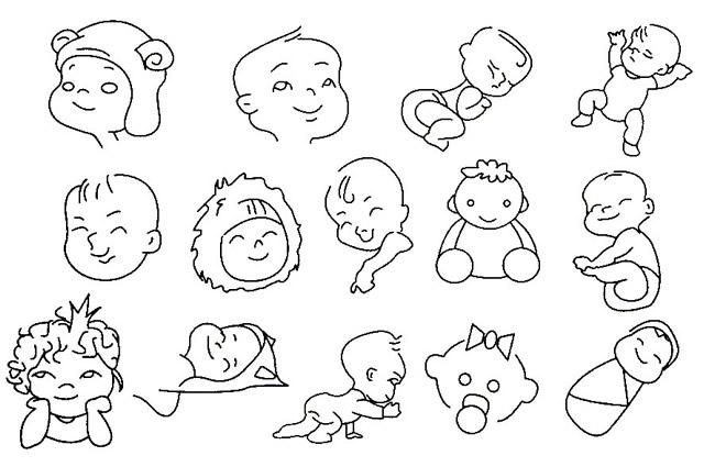 婴儿简笔画图片大全 人物-第5张