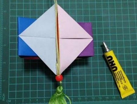 折纸灯笼立体简单做法 手工折纸-第13张