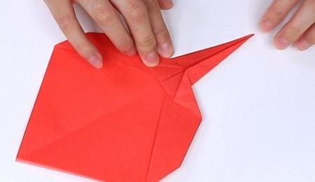 用纸折扇子的方法步骤图片 手工折纸-第10张