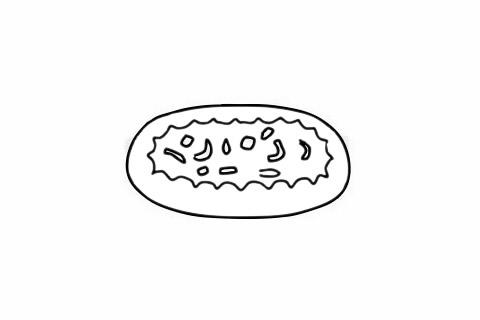 披萨简笔画图片