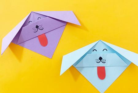 简单手工折纸小狗的步骤图解 手工折纸-第1张