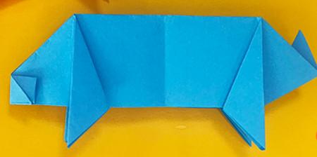 折纸小猪的步骤图解 手工折纸-第10张