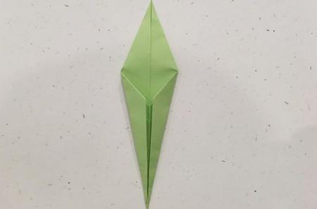 郁金香手工折步骤图解 手工折纸-第17张