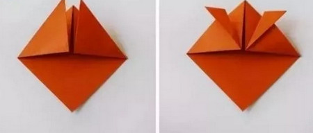 小鱼折纸步骤图解 手工折纸-第3张