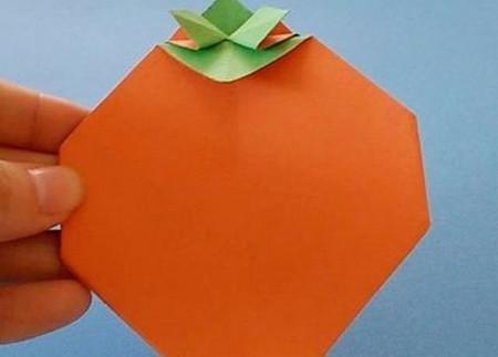 柿子折纸步骤图解 手工折纸-第6张