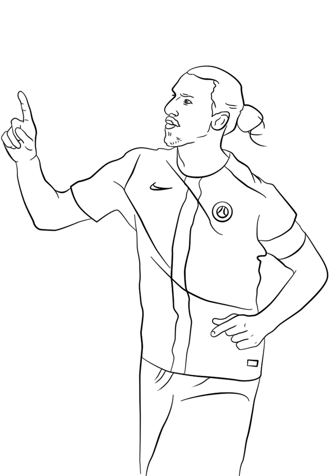 足球运动员简笔画图片 人物-第10张
