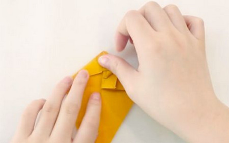 小猫立体折纸步骤图解法 手工折纸-第7张