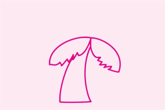 椰树简笔画简单画法 植物-第3张