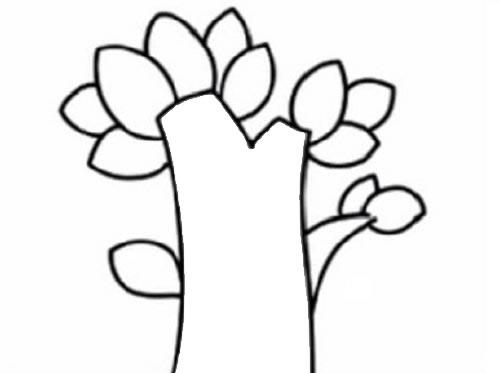 苹果树简笔画儿童画法 中级简笔画教程-第3张