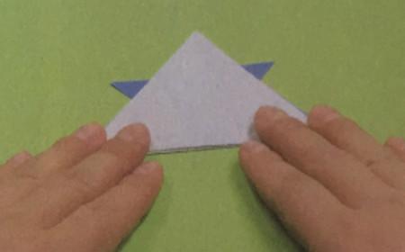 折纸头盔的步骤图解法 手工折纸-第5张