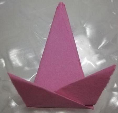 儿童折纸魔术帽的折法图解 手工折纸-第6张