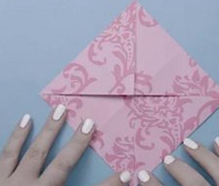 荷花怎么折简单又漂亮教程 手工折纸-第3张