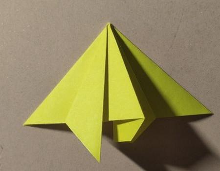 三角书签的折法图解 手工折纸-第8张