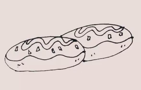 面包简笔画