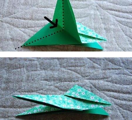 四叶草手工折纸步骤图 手工折纸-第9张