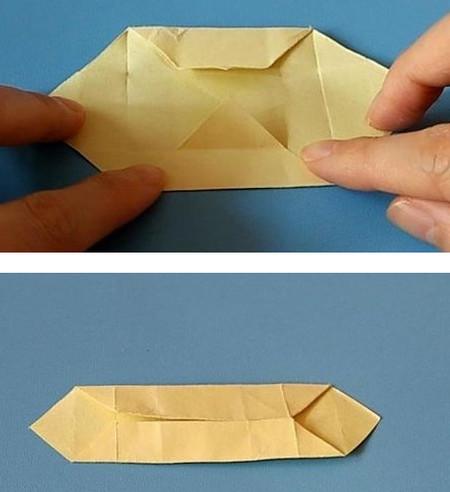小椅子折纸步骤图解 手工折纸-第6张