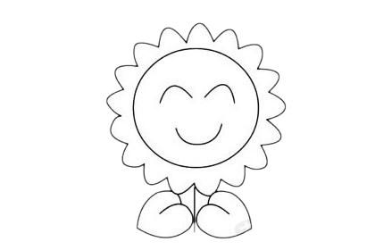 向日葵简笔画简单画法步骤教程及图片大全 植物-第10张