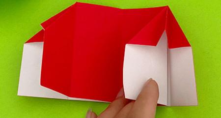 帐篷折纸方法图解 手工折纸-第9张