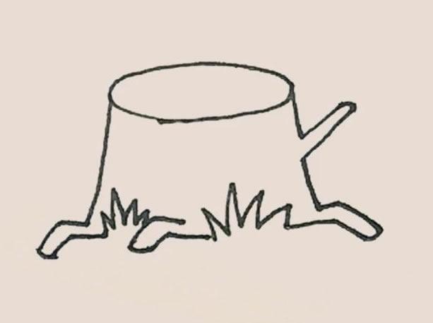 树桩简笔画的画法 初级简笔画教程-第5张