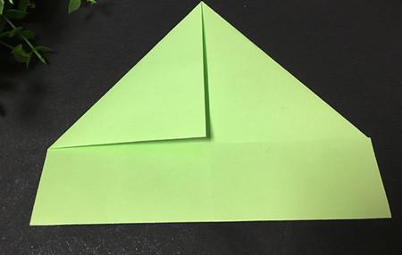 简单的折纸青蛙简单折法 手工折纸-第4张