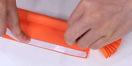 伸缩扇子的折法图解 手工折纸-第13张