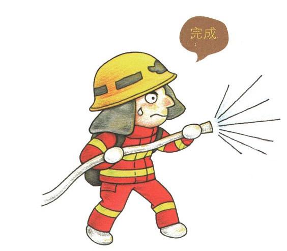 儿童简笔画消防员画法教程 中级简笔画教程-第1张