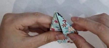 花瓶折纸步骤图解 手工折纸-第9张