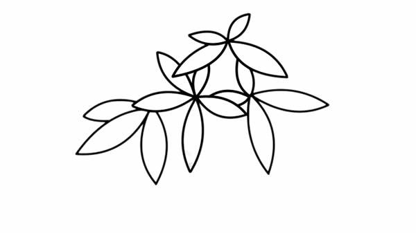 发财树儿童简笔画手绘 中级简笔画教程-第4张