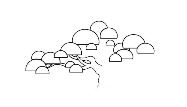 彩色松树儿童简笔画画法 中级简笔画教程-第4张