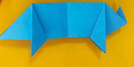 折纸小猪的步骤图解 手工折纸-第9张