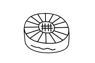 月饼简笔画图片