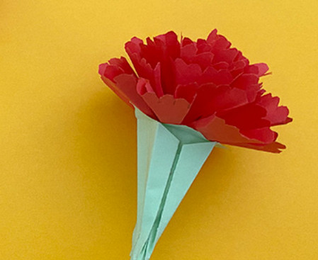 儿童手工折纸康乃馨花教程 手工折纸-第17张