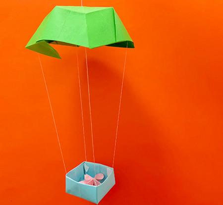 降落伞折纸方法图片大全 手工折纸-第15张