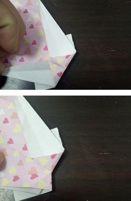 爱心笔帽的折法图解 手工折纸-第7张