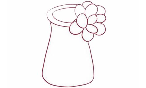 多肉植物简笔画分步骤画法 中级简笔画教程-第5张