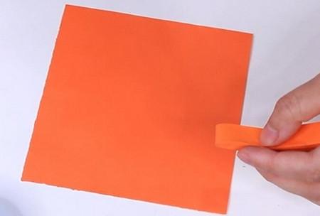伸缩扇子的折法图解 手工折纸-第9张