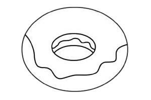 甜甜圈简笔画图片步骤三