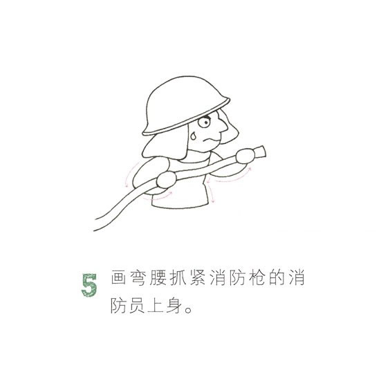 儿童简笔画消防员画法教程 中级简笔画教程-第6张