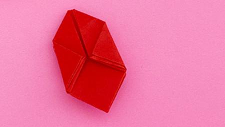 折纸樱桃步骤图解法 手工折纸-第9张