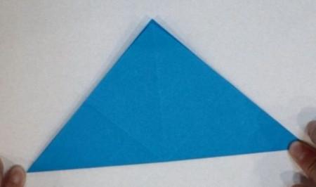 千纸鹤盒子的折法步骤图 手工折纸-第3张
