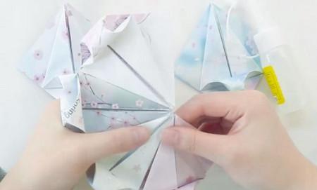 手工折纸旋转木马教程图解 手工折纸-第14张