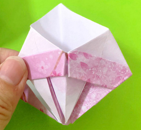 冰淇淋折纸步骤图解法 手工折纸-第13张