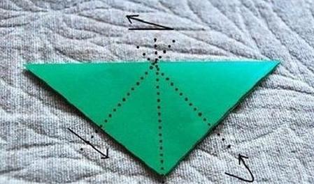 四叶草手工折纸步骤图 手工折纸-第3张