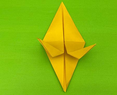 乌鸦手工折纸步骤图解 手工折纸-第9张