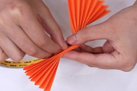 伸缩扇子的折法图解 手工折纸-第8张