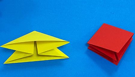 立体无限翻转手工折纸图解 手工折纸-第4张