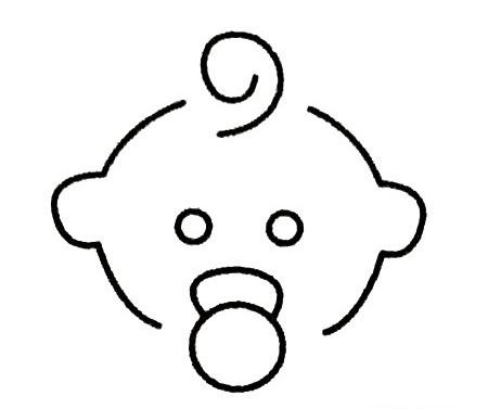 婴儿简笔画图片大全 人物-第1张